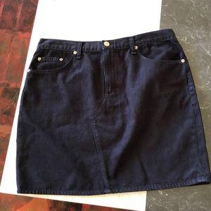 Rag & Bone Skirt Black Denim